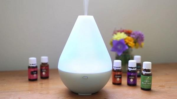 Essential oil diffuser with different essential oils