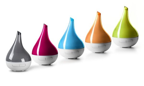 Variety of colors of Lull essential oil diffuser
